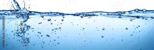 Fototapeta Splashing And Flowing Of Transparent Water Isolated On White