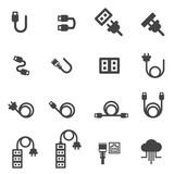 cable icons vector illustration - 160898614