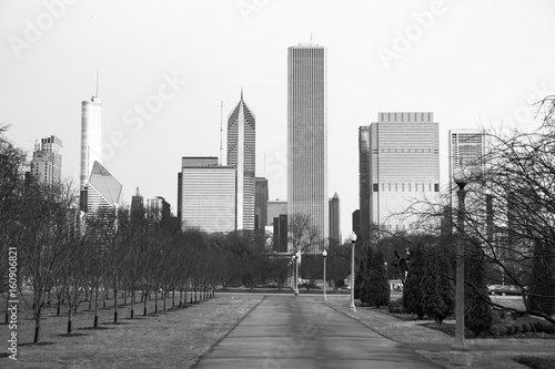 Chicago Downtown City Skyline Millennium Park Winter © Christopher Boswell