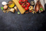 Pasta and ingredients - 160909837