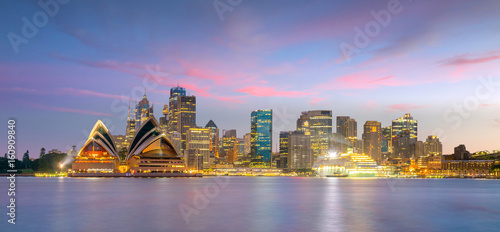Downtown Sydney skyline