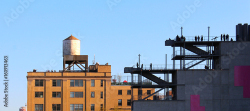 New york / Water tank and  Whitney Museum from the High line - USA