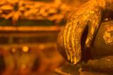 Bhuddha statue hand in Wat Phra That Sri Chom Tong, Chiang Mai, Thailand
