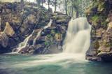 Waterfall Skalnik in Szczawnica, Beskid Sadecki mountain range in Polish Carpathian Mountains