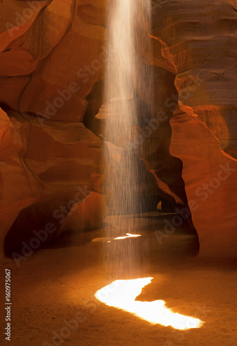 Light Beams Inside Antelope Canyon , Page, Arizona