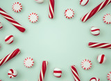 Peppermint Background with Space to Write - 160975642