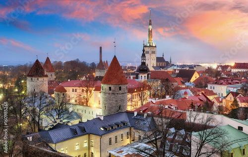 Tallin city, Estonia at sunrise Poster