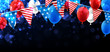 American background with flags and balloons.