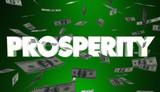 Prosperity Money Falling Earning Income Rich Wealth 3d Illustration - 161016226