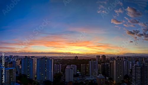 City Sao Jose dos Campos, SP / Brazil, at nightfall panorama photo