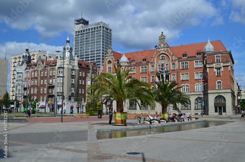 Centrum Katowic/Katowice downtown, Silesia, Poland