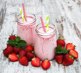 Yogurt with strawberries - 161115282