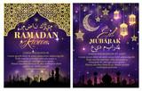 Ramadan Kareem greeting card and poster design
