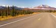 Highway Curve Wilderness Road Alaska Mountain Landscape