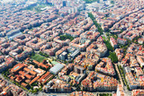 Aerial view of residential district. Barcelona
