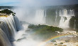 Quadro Waterfall Cataratas del Iguazu on Iguazu River, Brazil