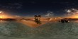 Environment map. HDRI map. Equirectangular projection. Spherical panorama. oasis in the desert