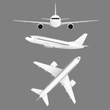 airplane flight white set illustration - 161210452
