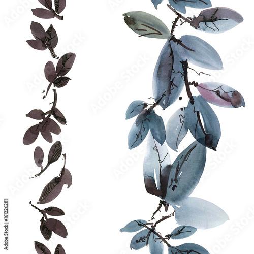 Tree leaves pattern - 161226281