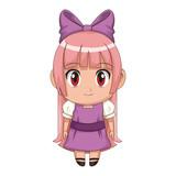 cute anime chibi little girl cartoon style