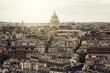 Paris, sunset over city centre, architecture of France in Paris - 161263096