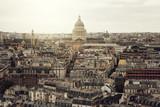 Paris, sunset over city centre, architecture of France in Paris
