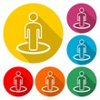 Street View icon vector, person standing  - 161293236