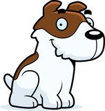Cartoon Jack Russell Terrier Sitting