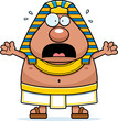 Scared Cartoon Egyptian Pharaoh - 161310454