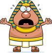 Scared Cartoon Egyptian Pharaoh - 161310454