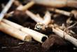 Canne di bambù e altri materiali di riciclo