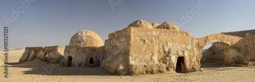 berber houses in Sahara desert in Tunisia