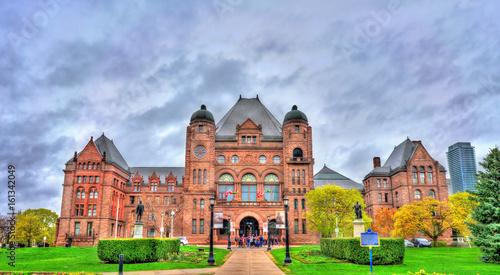 Ontario Legislative Building at Queen's Park in Toronto, Canada