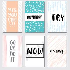 style inspiration quotes lettering. Motivational quote calligraphy