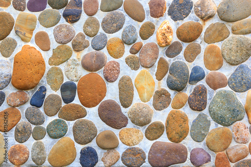 Pebble stone floor tile texture Poster