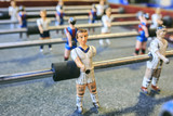 Football toy players Barcelona Real Madrid