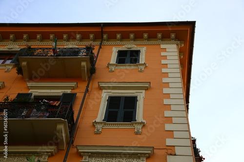 Typical mediterranean facade in the morning