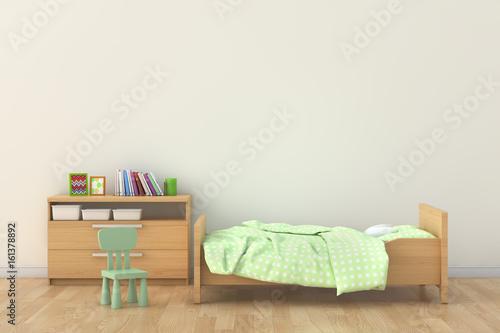 Bedroom for kid. 3d interior