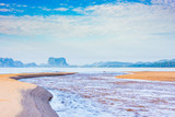 seascape blue sky sand and sea natural view