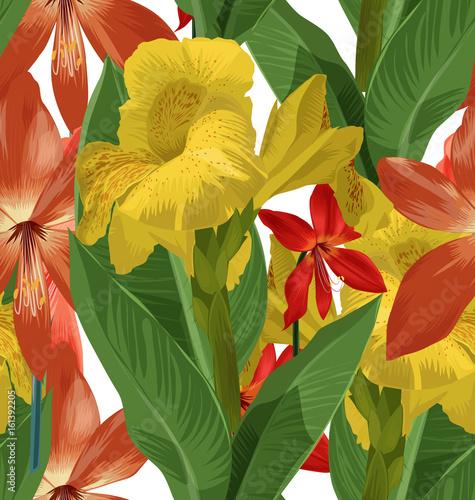 floral seamless pattern - 161392205