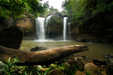 Haew Suwat Waterfall is beautiful in Khao Yai National Park Thailand.