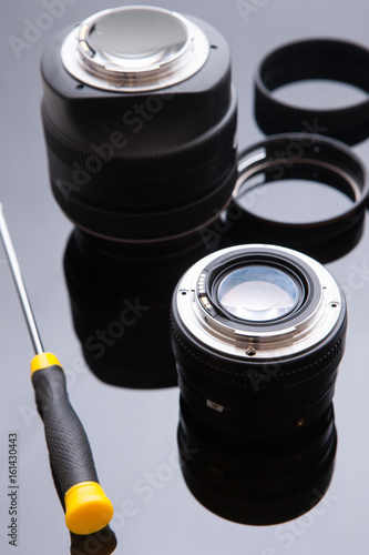 Poster Precision optical dslr lens service, adjustment and alignment