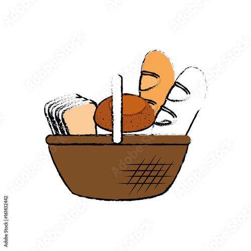 Fresh and delicious breads icon vector illustration graphic design