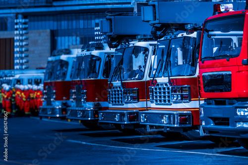 strzał szczegół zaparkowanego wóz strażacki, Chiny.