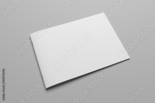 Papiers peints Blanc Blank 3D rendering brochure magazine on gray with clipping path No. 8