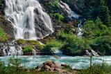 Gorgeous Alpine waterfall