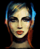 woman face. fashion illustration - 161482624