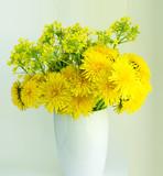 Yellow Dandelion Flowers Bouquet