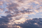Dark, white and pink clouds against the sky, Background