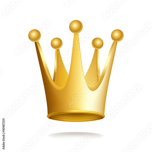 Gold crown isolated on white background. Vector image